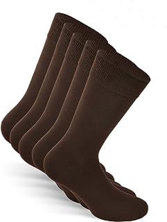 Calcetines de traje unisex (5 pares) tamaño: 39-50 color: Negro, Azul, Marrón, Gris - algodón