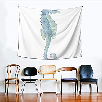 Lasinsu Tapestry Wall Hanging Profile Picture Of A Seahorse In Paintbrush Watercolor Style With Haze Effects Tapestry Home Decoration For Bedroom Living Room Amazon Co Uk Kitchen Home