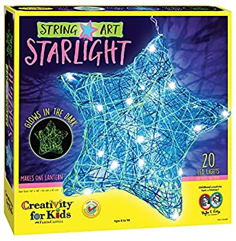 Creativity for Kids String Art Star Light Craft Kit - Create a DIY String Art Star Lantern - Arts and Craft Projects for Kids