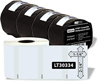 LiteTite LT30334-4 Labels Compatible with DYMO (LW), 2-1/4 x 1-1/4 Inches, 4 Rolls, 4000 (LT30334)