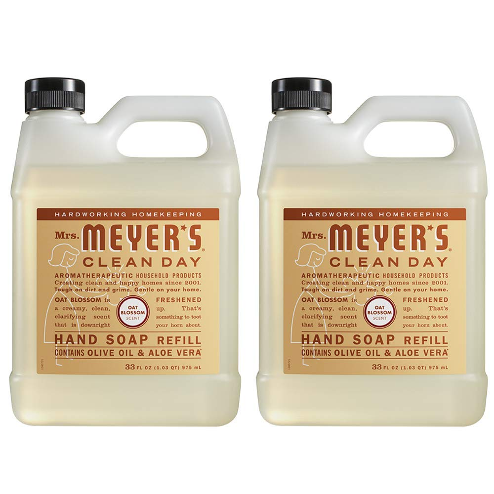 Mrs. Meyer's Clean Day Liquid Hand Soap Refill, Oat Blossom Scent (33 Ounce - 2 PACK)
