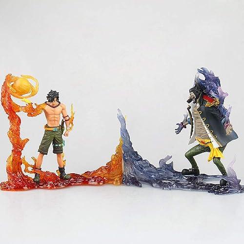 JXJJD Pirates Roi Nautique Ace & noir Beard Main Anime Model Souvenir Collection Artisanat