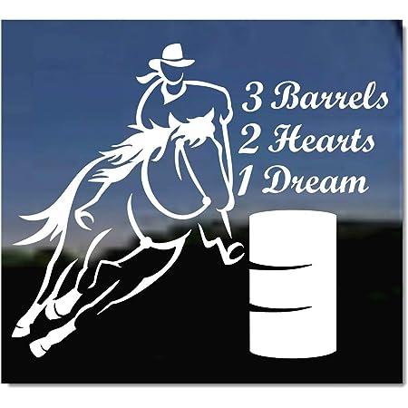 Barrel Life Vinyl Decal Sticker Rodeo Barrel Racing Horse Female Rider Car Auto