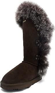 K.Signature Womens Grace Tall Sheepskin Winter Boots
