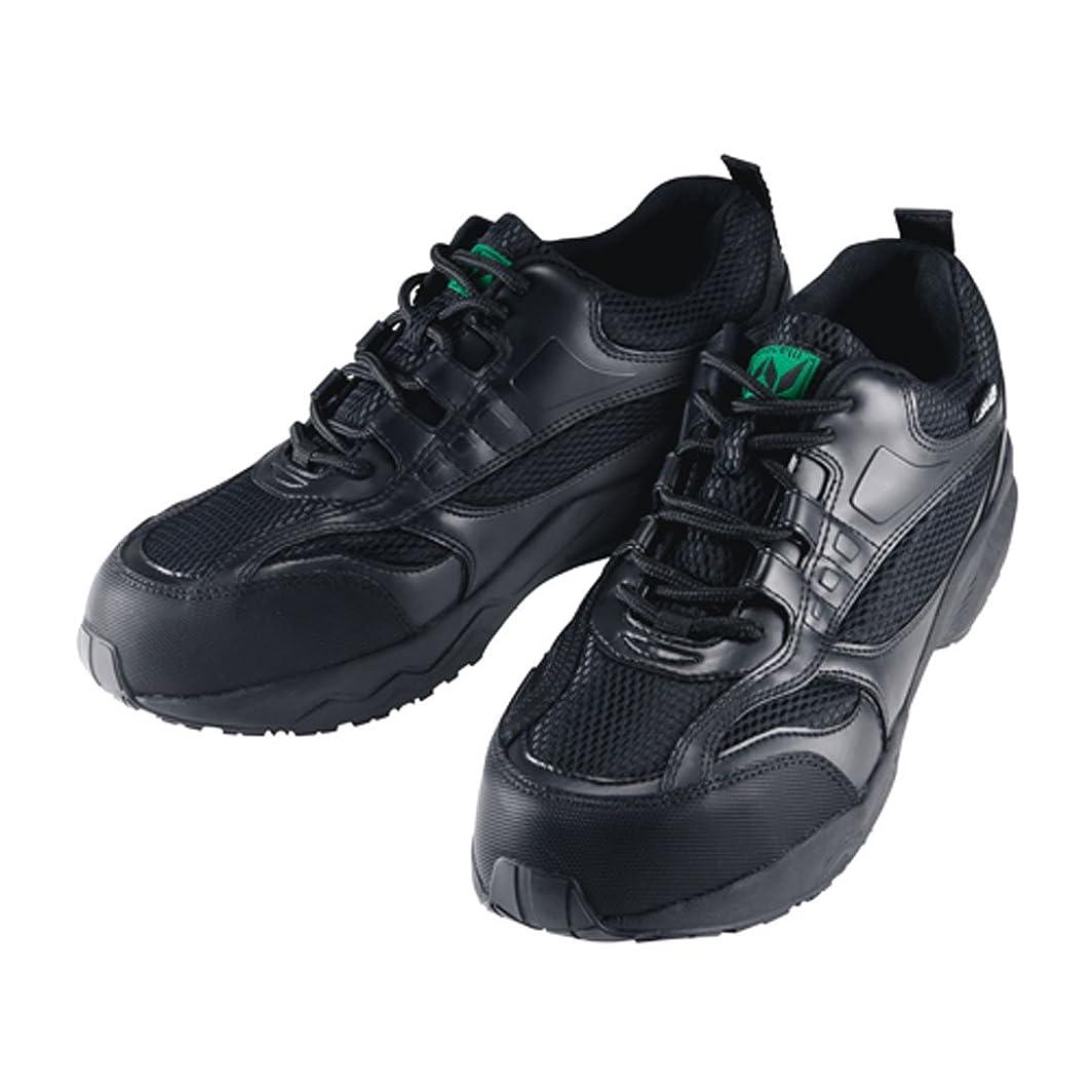 地域のエキス講義安全靴 スニーカー マンダムセーフティー 作業靴 マルゴ 安全シューズ 鋼製先芯 ローカット 黒 ブラック 普通作業 工場 耐油 滑りにくい 3E 幅広 JSAA A種認定品 男性 メンズ 女性 レディース 靴 シューズ