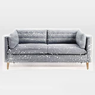 RHF Plastic Couch Cover, Kitty Cat Protector, Couch Cover For Pets, Cat Scratch Couch Cover Cat Deterrent, Waterproof Clear See-Through Plastic Furniture Covers, Sectional Couch Covers Sofa Cover