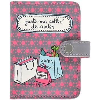 LOLUNA/® Porte carte de cr/édit Fantaisie bus fid/élit/é original et mignon motif Chouette arbre collection ou de jeux pour 26 /à 52 cartes