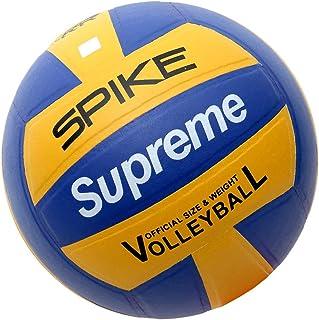 Supreme Polyurethane Spike Volleyball (Golden Yellow, Blue - Size: 4 )