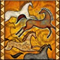 Ceramic Tile Mural - Southwest Horse 6 - by Dan Morris - Kitchen backsplash/Bathroom Shower
