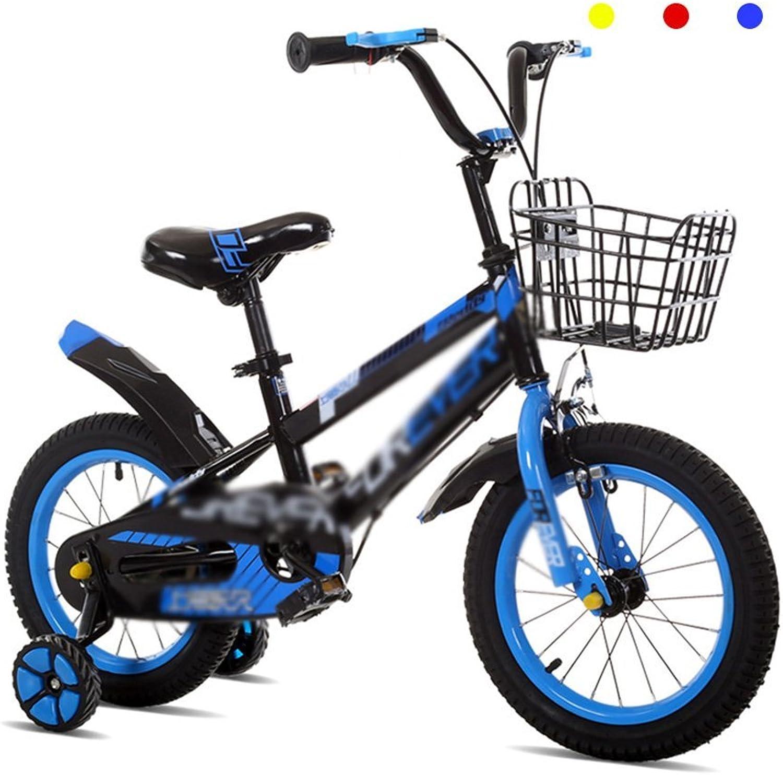 envío rápido en todo el mundo Bicicletas Bicicletas Infantiles Infantiles Infantiles para Niños y niñas 12 14 16 Pulgadas Bicicleta Cochecito Mountain 2-10 años (Color  Azul, Tamaño  14 Pulgadas)  ahorrar en el despacho