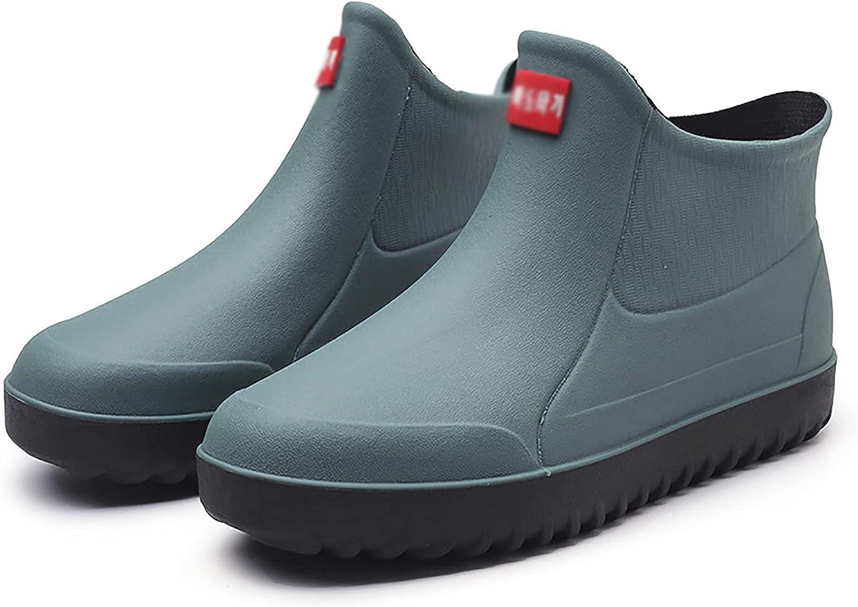 JIAYU Mens Ankle Short Boots Waterproof Garden Popular Rain Now on sale Rubber