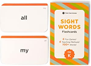 Think Tank Scholar 100+ Preschool (PRE K) Sight Words Flash Cards for Toddlers Ages 3 to 4 Years Old