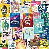 Deeplay Motivational Encouragement Greeting Cards- 24 Packs