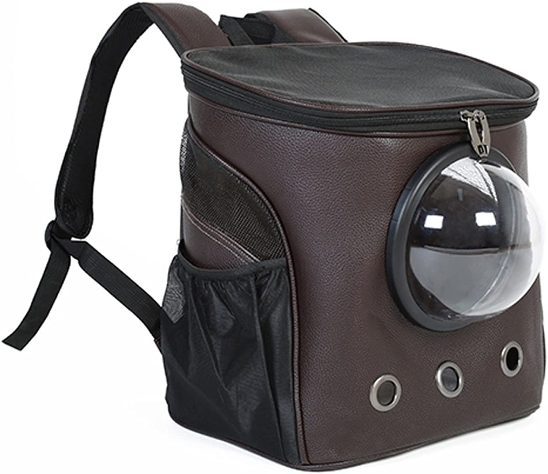 GWM Pet Backpacks, Cat Packs, Travel Bags, Teddy, Bichon, Outing Shoulder Bags, Dog Bags, Dog Bags, Pet Supplies (color   Brown)
