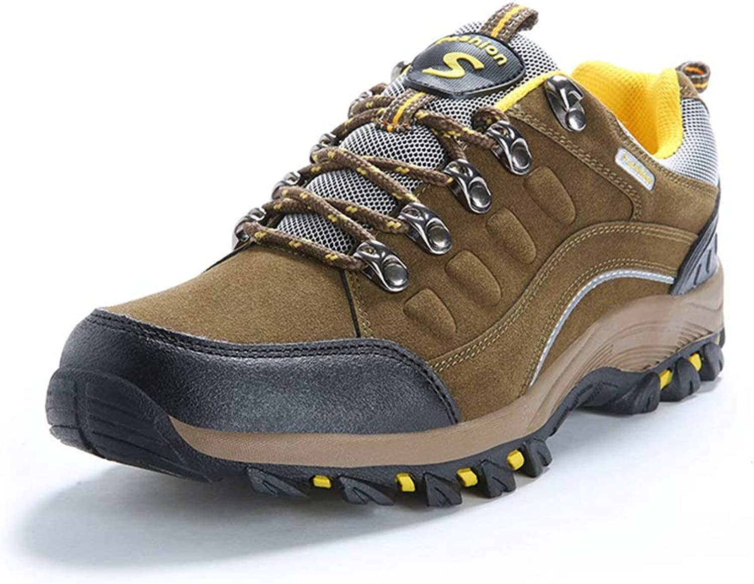 He-yanjing Women's Outdoor Hiking shoes, Autumn and Winter The Couple Hiking shoes Wear-Resistant Shock Absorbers for Men and Women Outdoor shoes Men's Casual Walking shoes