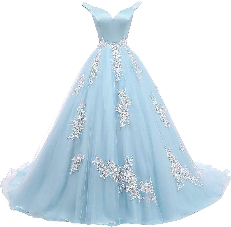 Natasha Women's 返品交換不可 倉 Off Shoulder V Neck Prom Homecoming Long Dresses