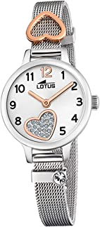 Lotus Filles Analogique Quartz Montre avec Bracelet en Acier Inoxydable 18659/1