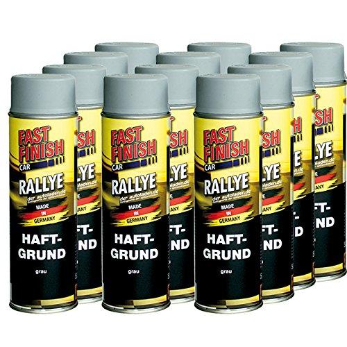 12x 500 ml FAST FINISH Car Rallye Haftgrund Grundierung Grau Spraydose 292811