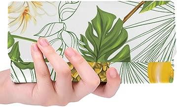 Unique Custom Summer Tropic Pineapple Leaves And Mango Women Trifold Wallet Long Purse Credit Card Holder Case Handbag