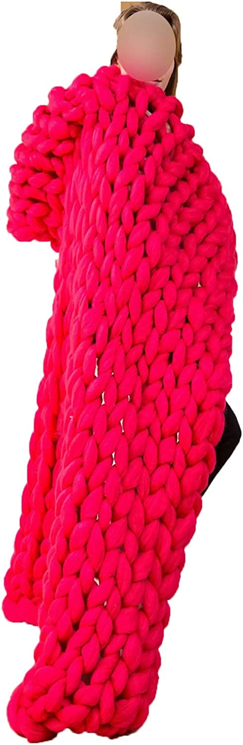 QWERTYUKJ Chunky Knit Popular products Blanket for Challenge the lowest price of Japan Decoration from Acrylic P Made