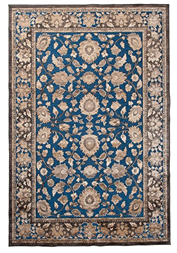 Carpeto Orientteppich Teppich Türkis 80 x 150 cm Ornamente Muster Hortense Kollektion