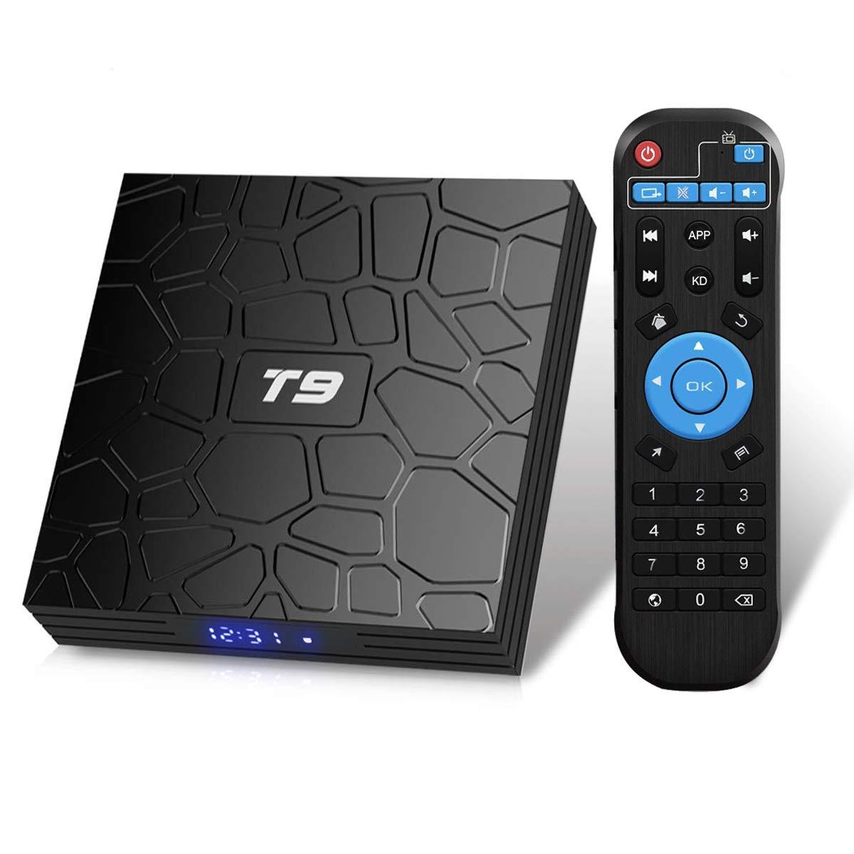Android TV Box T9 Android 9.0 TV Box 4 GB RAM / 32 GB ROM RK3318 Quad-Core Soporte 2.4/5 Ghz WiFi BT4.0 4K 3D HDMI DLNA Smart TV Box: Amazon.es: Electrónica