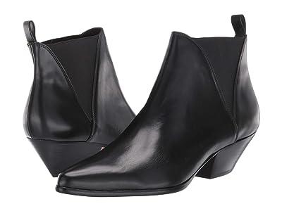 Diane von Furstenberg Nadie (Black Leather) Women