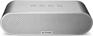 Wireless Bluetooth Speaker Outdoor Portable Stereo Speaker with Dual driver stereo sound 20W 5200mAh Double Driver Hands-free Aux-in Silver