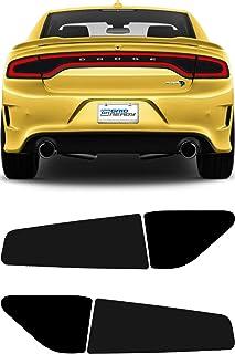 GRIDREADY 2015-2020 Dodge Charger Tail Light Tint Kit | Precut Dark Black Smoke Vinyl Overlays for `15-`20 Dodge Charger T...