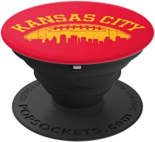 Kansas City Football | Vintage KC Skyline Chief Retro Gift PopSockets Grip and Stand for Phones and Tablets