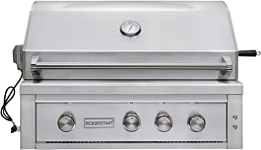 EdgeStar GRL360IBBLP 89000 BTU 36 Inch Wide Liquid Propane Built-in Grill with Rotisserie and LED Lighting