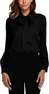 Best black bow tie blouse Reviews