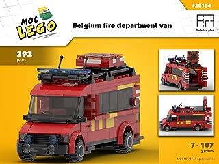 Belgium fire department van (Instruction Only): MOC LEGO