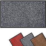 Mibao Dirt Trapper Door Mat for Indoor&outdoor,90x120cm,Grey Black,Washable Barrier Door Mat,Heavy Duty Non-Slip Entrance Rug Shoes Scraper,Super Absorbent Front Door Mat Carpet