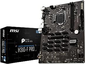 MSI Pro Series Intel Coffee Lake H310 LGA 1151 BTC ETH LTC Crypto Mining ATX Motherboard (H310-F PRO)