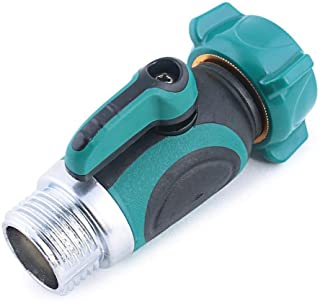 HONGTAI 3/4 amp quot Garden Water Hose Adaptor with Valve Irrigation Valve Adapter for Water House Tap Connection (Color :...