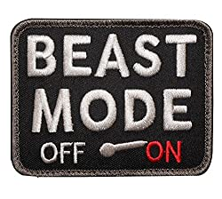 Beast Mode - dog vest velcro badge