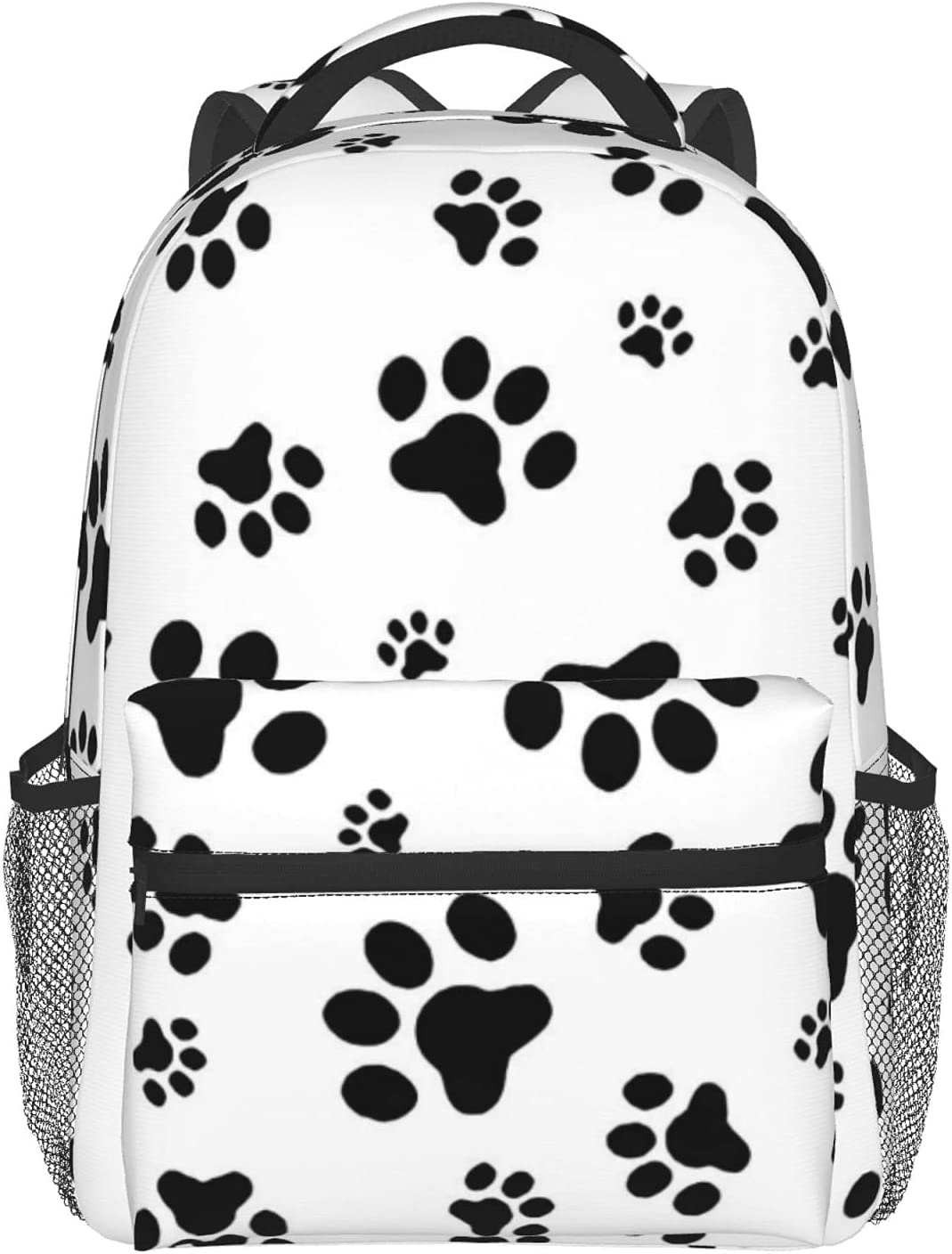 Dog's footprints Full Max 41% OFF Print Schoolbag To Durable 100% 5 popular polyester