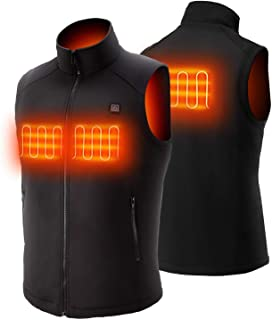 Heated Vest with Rechargeable 5V Battery Pack,Washable Temperature Adjustable Electric Heated Vest for Women Men Outdoor Skiing Hiking Camping
