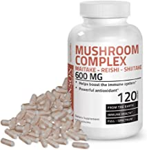 Triple Mushroom Complex - Maitake - Reishi - Shiitake - Powerful Antioxidant and Immune System Booster - Full Spectrum Mushroom Complex - 600 mg Capsules - 120 Count