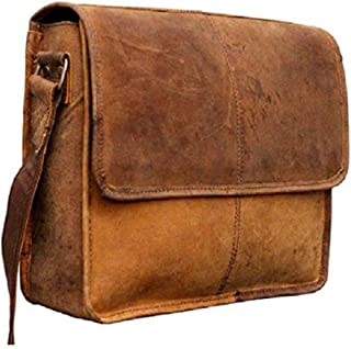 Tuzech 13L Genuine Buffalo Leather Bag Handmade/Satchel/Messenger/Unisex/Half Flap/Shoulder Bag