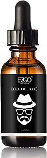 EZGO 胡须油免洗护发素和软化剂,胡须,面部和皮肤,无香型胡须油,2 盎司