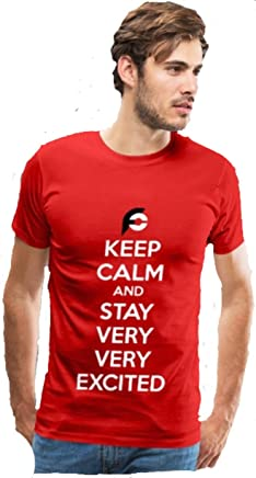Randy Santel Keep Calm Very Excited Graphic Tee Red