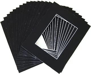 10 of 20x24 Black Pre-cut Acid-free whitecore mat for 16x20 + back+bag