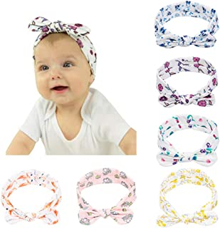 Baby Headbands -6Pack Soft Stretchy Cotton Headbands for Baby Girls