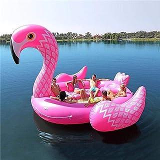 Unicornio Gigante Flamenco Bote Inflable Adecuado para 6 Personas Fiesta en la Piscina Bola de Flotador de Aire colchón de...
