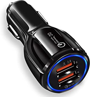 JOYSEUS Car Charger, 30W Dual USB Car Mobile Charger - QC 3.0 3.1A + Smart IC 3.1A, Car Charger Fast Charging Compatible w...