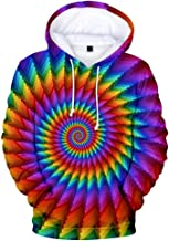 Unisex Men's 3D Vortex Print Long Sleeve O Neck Hoodie Pullover Top Casual Shirts Sport Blouse (S-4XL)