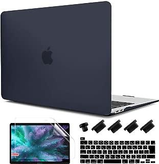 TwoL MacBook Pro 16 ケース 2019, マットタイプ 薄型 衝撃吸収 排気口設計 ハードケース + 日本語キーボードカバー + 液晶保護フィルム New Mac Pro 16 インチ Touch Bar搭載 A2141対応, つや消しブラック