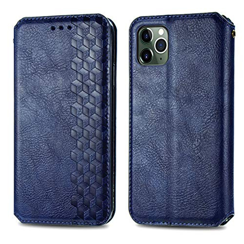 Trugox Funda Cartera para iPhone 11 Pro MAX de Piel con Tapa Tarjetero Soporte Plegable Antigolpes Cover Case Carcasa Cuero para Apple iPhone 11ProMax - LOSDA12A0031 Azul